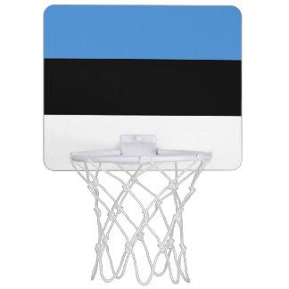 Flagga av Estland det mini- basketmålet Mini-Basketkorg