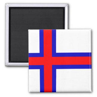 Flagga av Faroeen Island Magnet