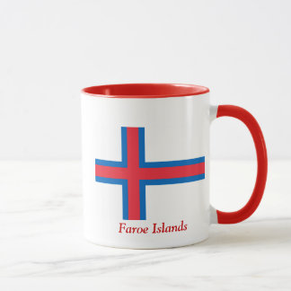Flagga av Faroeen Island Mugg