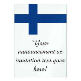 Flagga av Finland 12,7 X 17,8 Cm Inbjudningskort