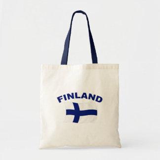 Flagga av Finland Budget Tygkasse