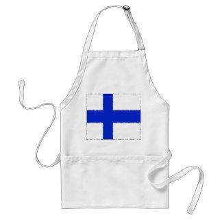 Flagga av Finland Förkläde