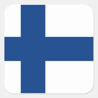 Flagga av Finland Fyrkantigt Klistermärke
