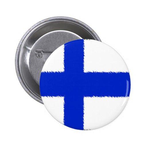 Flagga av Finland Knappar Med Nål