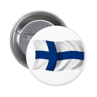 Flagga av Finland Standard Knapp Rund 5.7 Cm