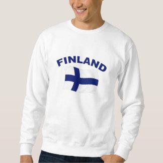 Flagga av Finland Lång Ärmad Tröja