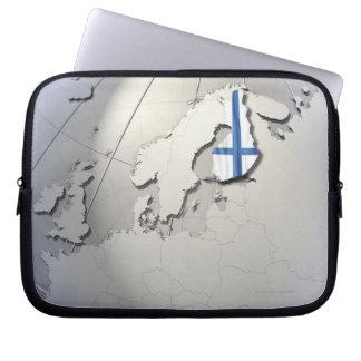 Flagga av Finland Laptop Fodral