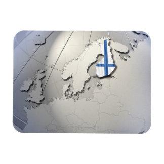 Flagga av Finland Magnet