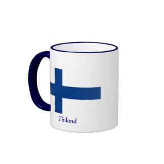 Flagga av Finland Kaffe Mugg