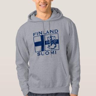 Flagga av Finland Tröja Med Luva
