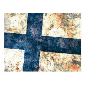 Flagga av Finland Vykort