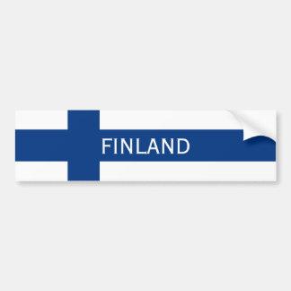 Flagga av flagga för Finland blåttkor Bildekal