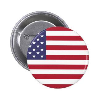 Flagga av Förenta staterna Standard Knapp Rund 5.7 Cm