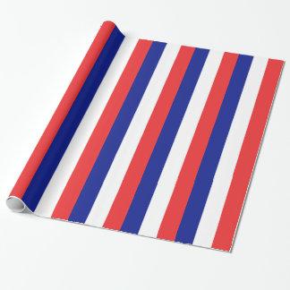 Flagga av frankrikefransk Tricolore Presentpapper