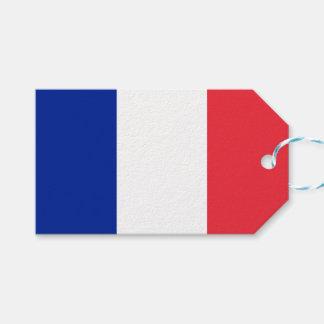 Flagga av frankrikegåvamärkre presentetikett