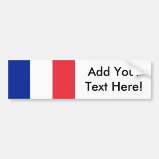 Flagga av frankriken bildekal