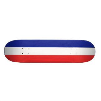 Flagga av frankriken eller Tricolore Skateboard Bräda 21,5 Cm