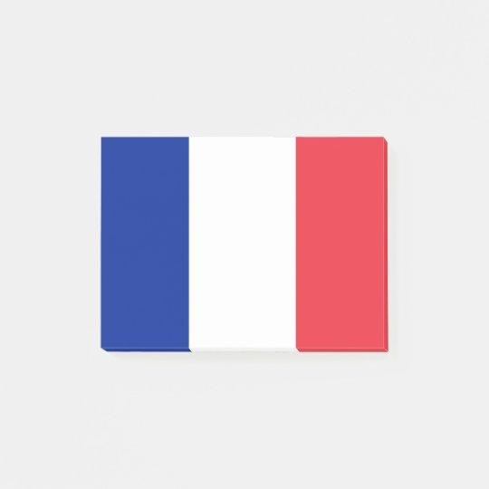 Flagga av frankriken Postar-it® noterar Post It Blockpapper