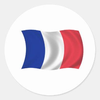 Flagga av frankriken runt klistermärke