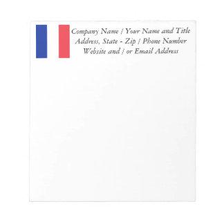 Flagga av frankriken, Tricolour medborgareflagga Anteckningsblock