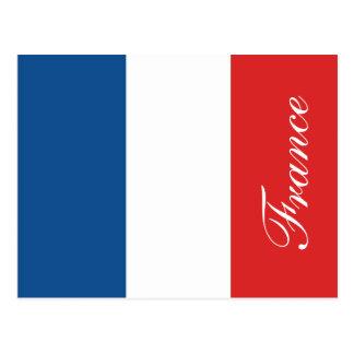 Flagga av frankriken vykort