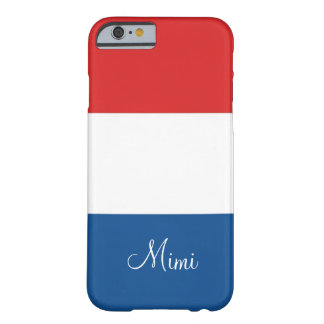 Flagga av frankrikepersonligen barely there iPhone 6 fodral
