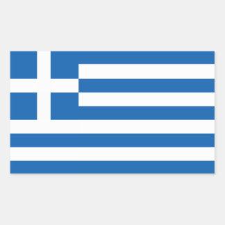 Flagga av Grekland Rektangelformade Klistermärken