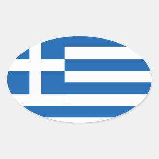 Flagga av Grekland Ovala Klistermärken
