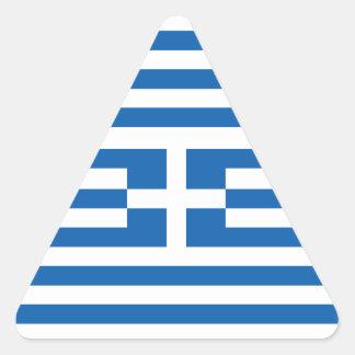 Flagga av Grekland Triangle Sticker