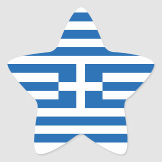 Flagga av Grekland Stjärnformade Klistermärken