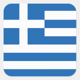 Flagga av Grekland Fyrkantigt Klistermärke