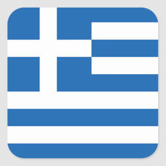 Flagga av Grekland, grek Fyrkantigt Klistermärke