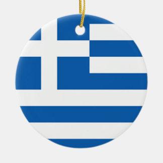 Flagga av Grekland, grek Julgransprydnad Keramik