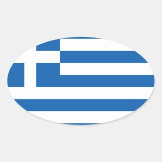 Flagga av Grekland Ovalt Klistermärke