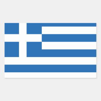 Flagga av Grekland Rektangulärt Klistermärke