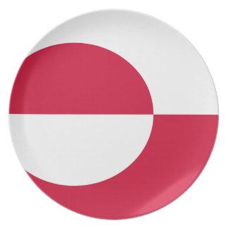 Flagga av Grönlandet Tallrik