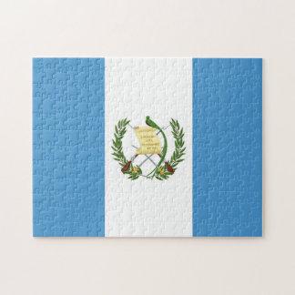Flagga av Guatemala - centralamerikan Pussel