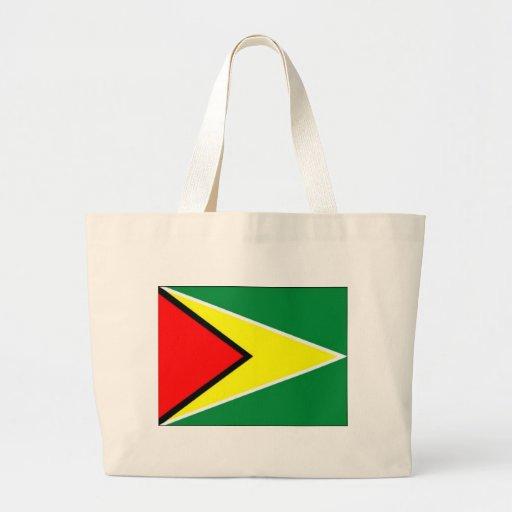 Flagga av Guyana Tote Bags