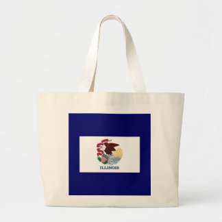 Flagga av Illinois Tote Bags