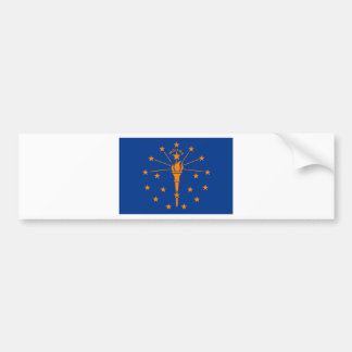 Flagga av Indiana Bildekal