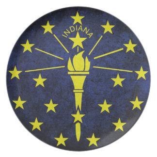 Flagga av Indiana Tallrik