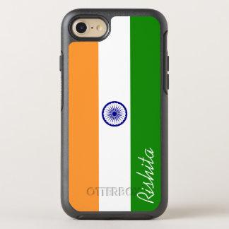 Flagga av Indien med monogramen OtterBox Symmetry iPhone 7 Skal