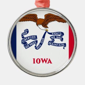 Flagga av Iowa Julgransprydnad Metall