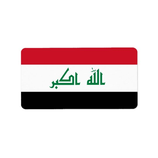 Flagga av Irak etiketter Adressetikett