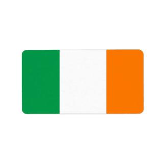 Flagga av Irland etiketter Adressetikett