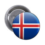 Flagga av islandet knapp med nål