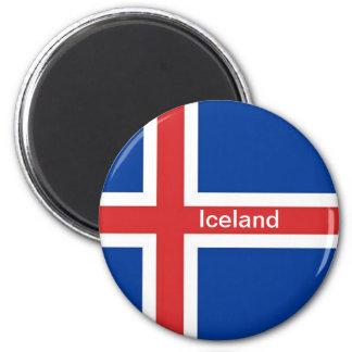 Flagga av islandet magnet