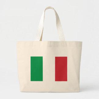 Flagga av italien tote bags