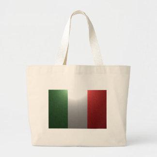 Flagga av italien med metalliskt verkställer jumbo tygkasse