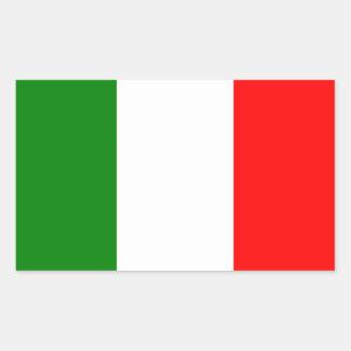 Flagga av italien rektangulärt klistermärke